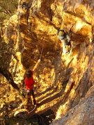 Rock Climbing Photo: Amy's turn.