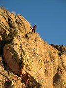 Rock Climbing Photo: At the top of one of my favorite routes Pay Day.