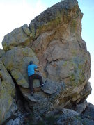 Rock Climbing Photo: Up the hill a bit from the other problems, anchors...