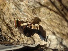 Rock Climbing Photo: Undercling start.