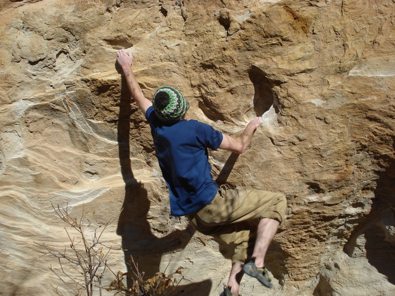 Rock Climbing Photo: Fun throw on the right side of the wall.