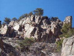 Rock Climbing Photo: Turtle Dome from the creek.