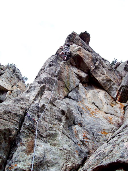BH on FA of Rock Doc arete, Vanishing Point.