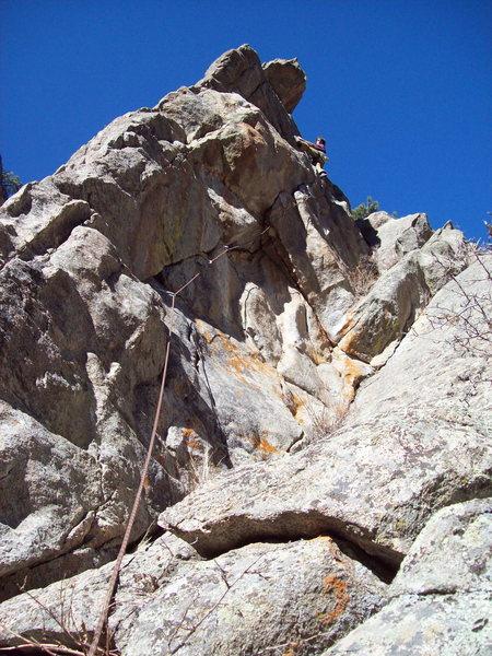 Rock Climbing Photo: BH on Orion, Vanishing Point.