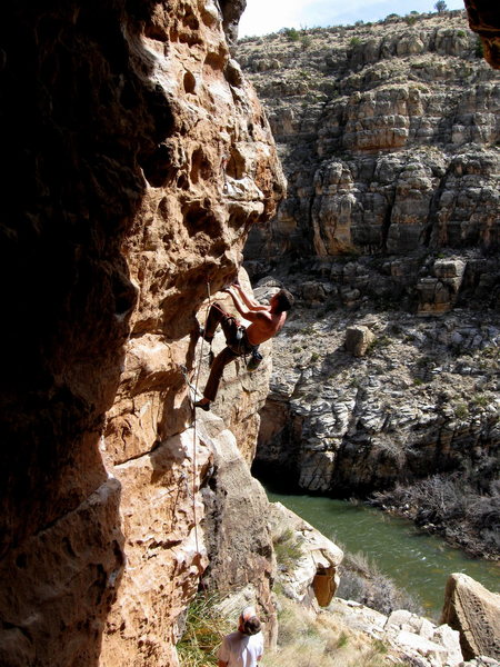 Rock Climbing Photo: Wade Forrest in the middle of nowhere, AZ