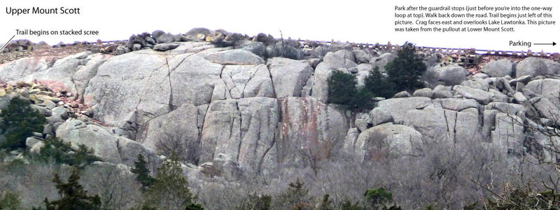 Accessing Upper Mount Scott.
