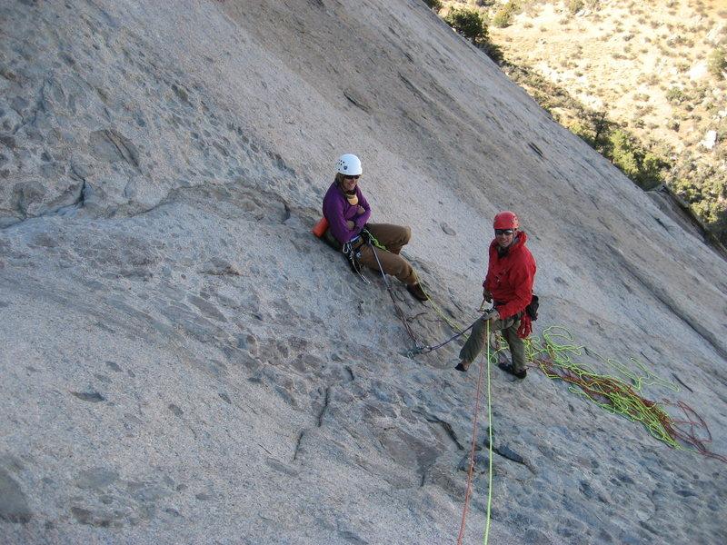 Rock Climbing Photo: Bob Cort and Josie at the beautiful belay undernea...