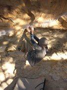 Rock Climbing Photo: Halfway through.