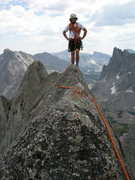 Rock Climbing Photo: East Ridge, Wolfs Head, Cirque of the Towers, WY