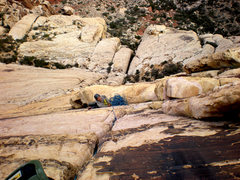 Rock Climbing Photo: Another fun pitch (maybe the 5th?) on solar slab. ...