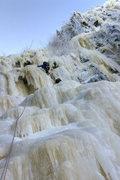 Rock Climbing Photo: Black Dike. Incredible, wind-swept ice fomations o...