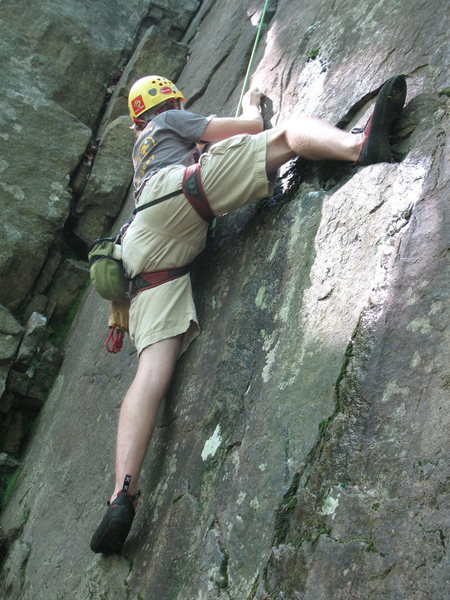 Rock Climbing Photo: Blow Out, heel hook