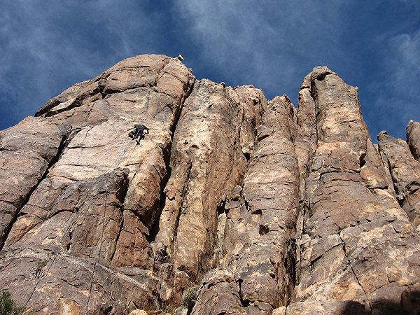 Rock Climbing Photo: Climbing on Queen Mountain. Photo by Blitzo.