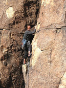 Rock Climbing Photo: Tucker Tech on a new route on Queen Mountain. Phot...