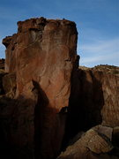 Rock Climbing Photo: Evening light on the upper end of the Grotto, righ...