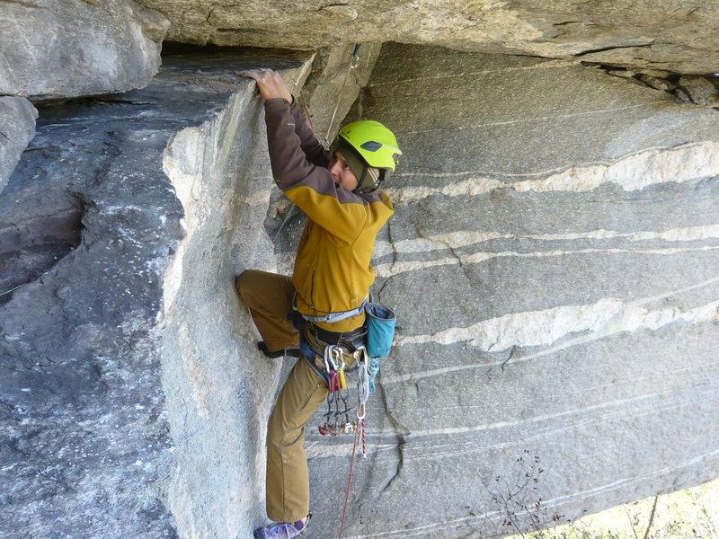Rock Climbing Photo: On the traverse