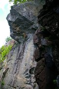 Rock Climbing Photo: Giant Man.  Overhanging, high, lots of atmosphere.