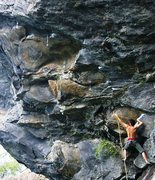 Rock Climbing Photo: Giant Man. Should give some sense of the business ...