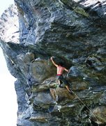 "Rock Climbing Photo: Giant Man. Where the ""warm up"" ends, and..."