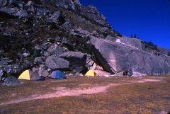 Rock Climbing Photo:  Ishinca base camp.