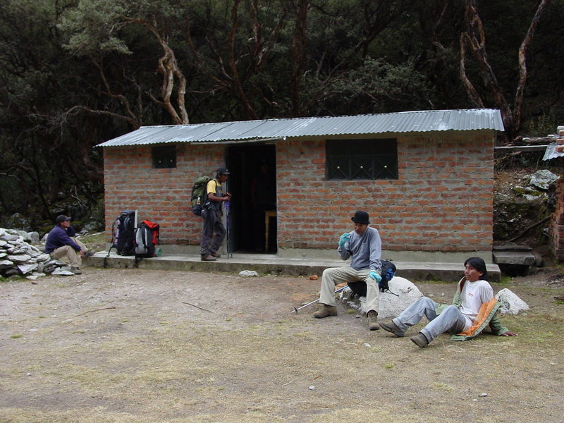 The Park hut in the Quenal Forest.