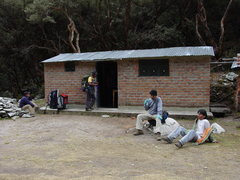 Rock Climbing Photo: The Park hut in the Quenal Forest.