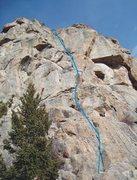 Rock Climbing Photo: Follow the blue line!