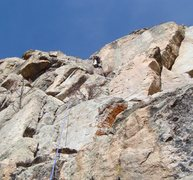 Rock Climbing Photo: Myself in the business on the hand crack on Nomad'...