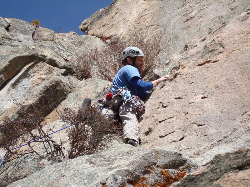 Rock Climbing Photo: Working my way up the route.