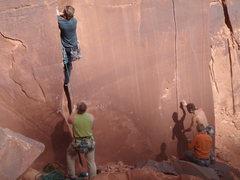 Rock Climbing Photo: Aaron leading Nina