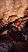Rock Climbing Photo: Timmy F. going to the hueco before the flying ninj...