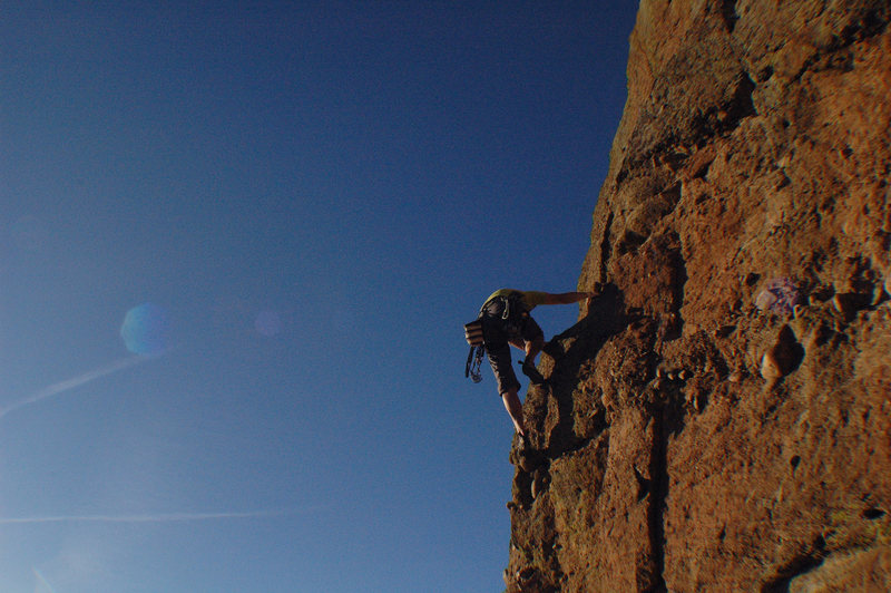Climber on Equinox- Castlewood Canyon