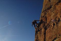 Rock Climbing Photo: Climber on Equinox- Castlewood Canyon