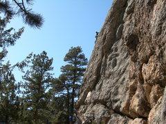 Rock Climbing Photo: Matt Cohen on pitch 1. 2-21-09.