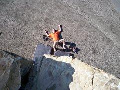 Rock Climbing Photo: Fritz off the Mugu boulder.