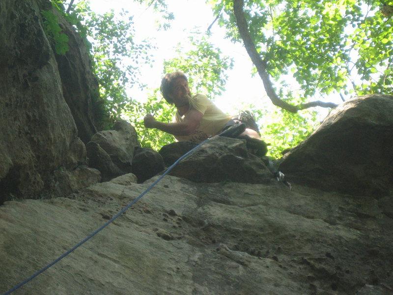 Rock Climbing Photo: Knower on DD VICTORY!