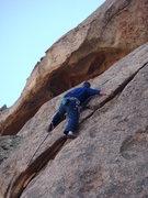 Rock Climbing Photo: At the transition.  Unknown crotchety climber on u...