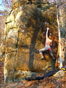 Rock Climbing Photo: The early crux.