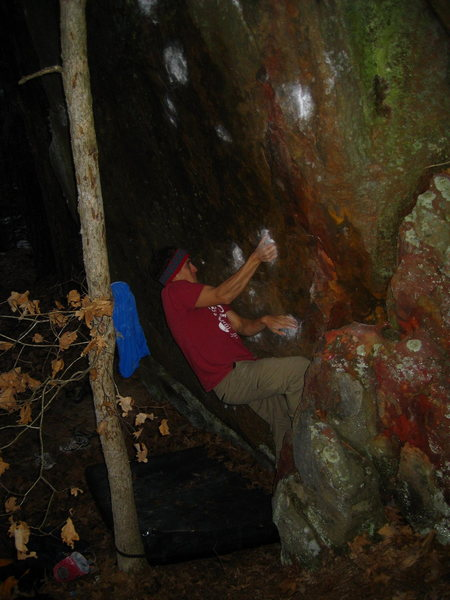 Rock Climbing Photo: AJ crankin at dusk
