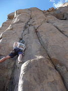 Rock Climbing Photo: Scott starting out the lead on Bone Crusher and tr...