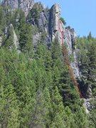 Rock Climbing Photo: Foxtrot on Pineapple Buttress.