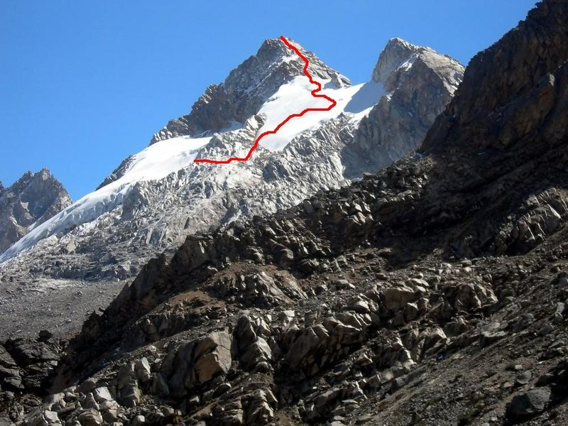 Rock Climbing Photo: Upper Southeast Slopes to the East Ridge