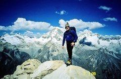 Rock Climbing Photo: Urus Este summit with Ishinca, Ranrapalca, Ocshapa...