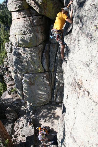 Climbing at Blue Cloud near Helena, MT.