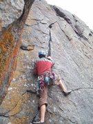 Rock Climbing Photo: Starting up Practice Crack