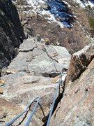 Rock Climbing Photo: Doug Burns following Pinnacle Standard.