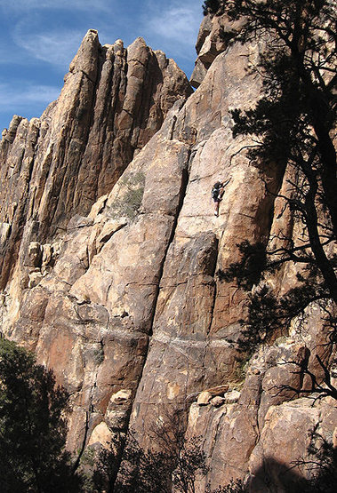 Rock Climbing Photo: Todd Gordon climbing on Queen Mountain. Photo by B...