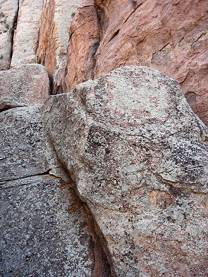 The rock is a bit different on Queen Mountain.<br> Photo by Blitzo