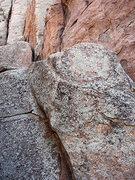 Rock Climbing Photo: The rock is a bit different on Queen Mountain. Pho...