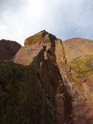"Rock Climbing Photo: Ben following the amazing corner of ""False Pr..."